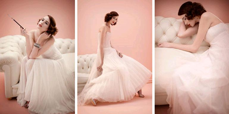 Inspired by old hollywood and the 1930s 40s and 50s the for 40s style wedding dress