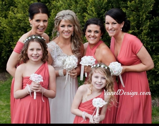 Pink+Bridesmaid+Convetible+Dress