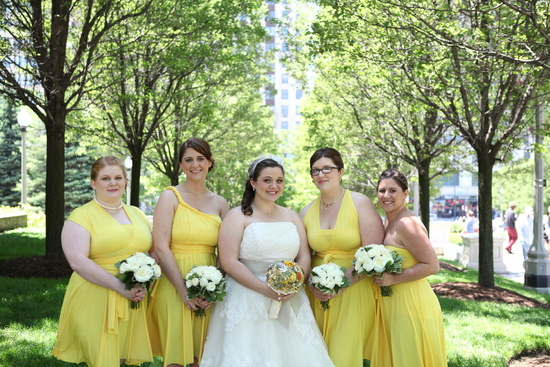 Yellow Convertible Bridesmaid