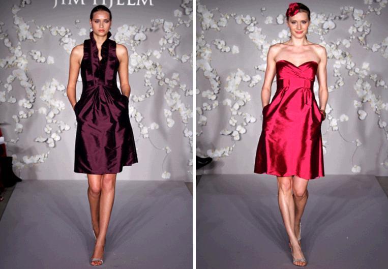 Jim-hjelm-bridesmaids-dresses-holiday-winter-colors-wine-burgundy-rasberry-knee-length.full