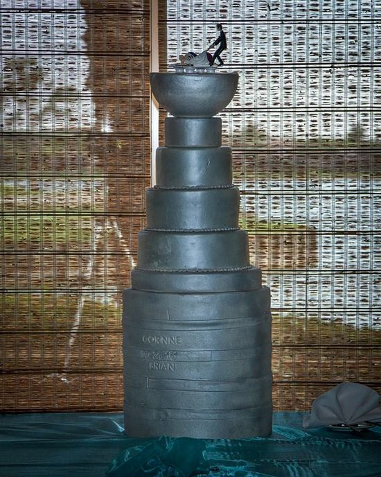 Stanley Cup Replica Wedding Cake