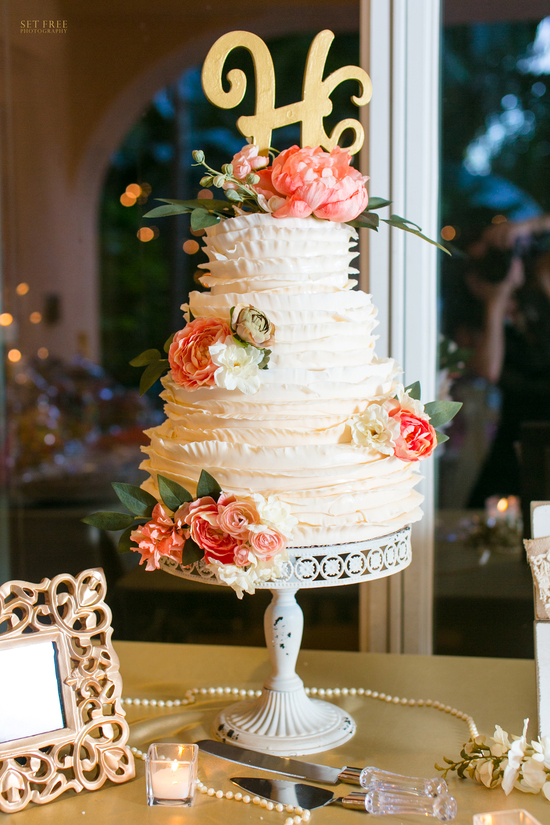 Ruffled Wedding Cake Captiva Fl
