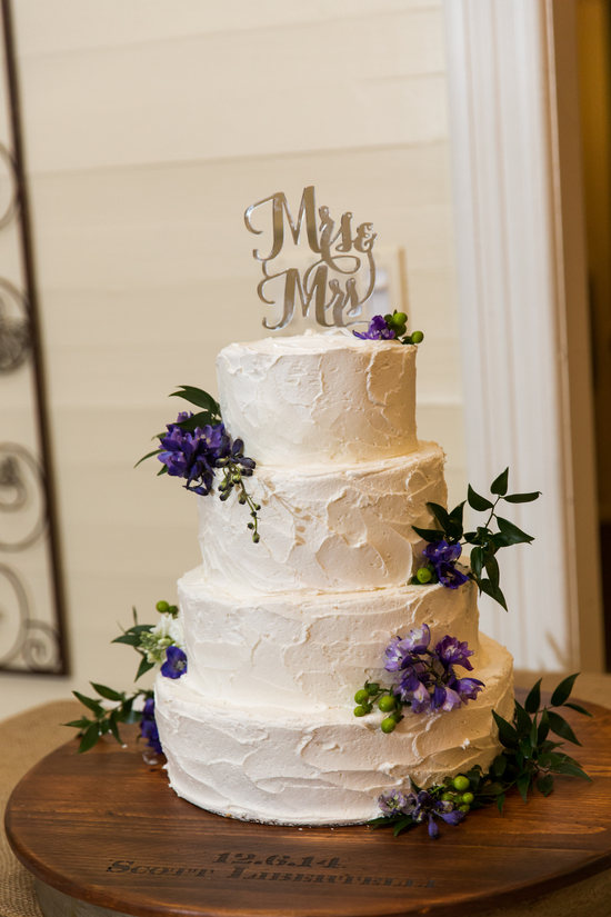 Rustic Textured Wedding Cake