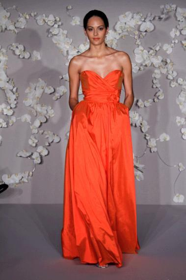 Jim-hjelm-bridesmaids-dresses-pumpkin-orange-long-sweetheart-neckline-pockets.full