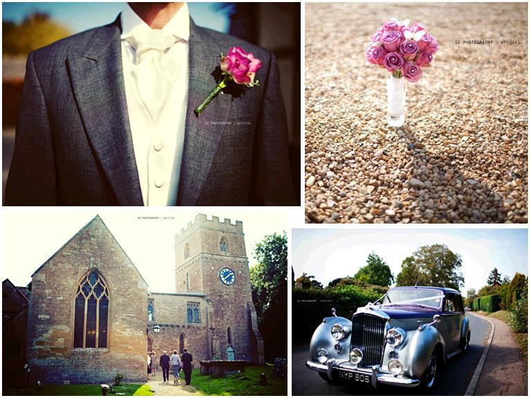 London-england-fuschia-corsage-pink-roses-bridal-bouquet-antique-car-castle-like-church-wedding-ceremony.full
