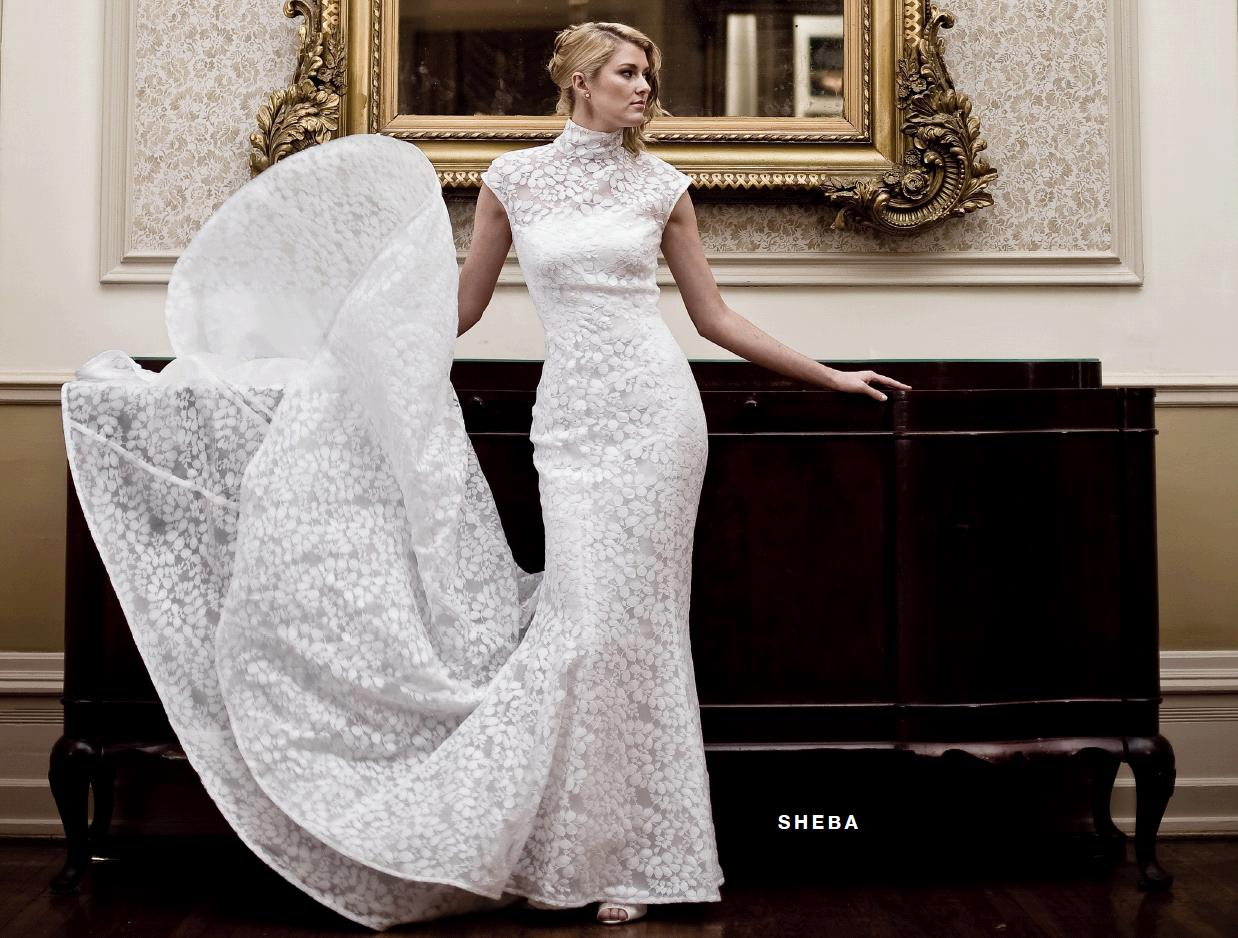 Turtle Neck Wedding Gowns: Beautiful Turtle Neck, Cap Sleeved White Wedding Dress