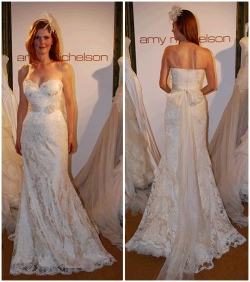 Ivory Wedding Dress With Mermaid Lace, Silk Organze Roses