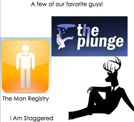 The Man Registry, The Plunge and I Am Staggered all offer advice for grooms and have interesting log