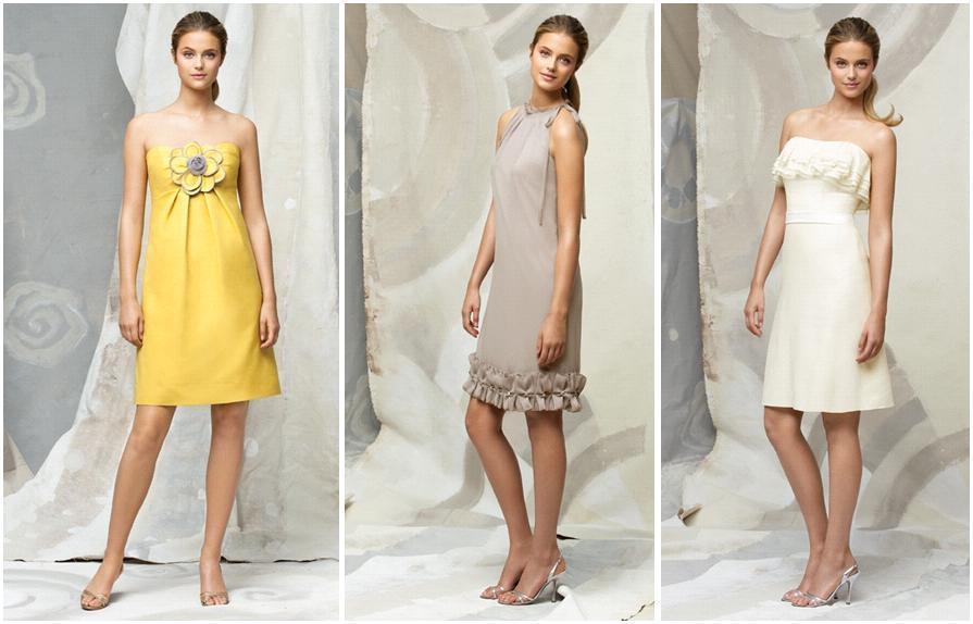 Lela-rose-spring-2010-knee-length-bridesmaids-dresses-yellow-strapless-flower-applique-light-cappucino-with-ruffled-hem-white-strapless-with-ruffles.full