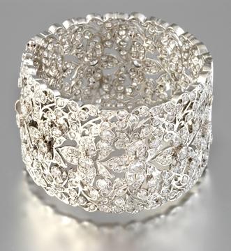 Tejani-bridal-cuff-floral-design-silver-diamond-rhinestones.full