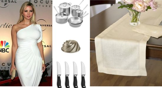 Ivanka Trump's wedding gift registry includes stainless steel cookware, bundt pans, steak knives and
