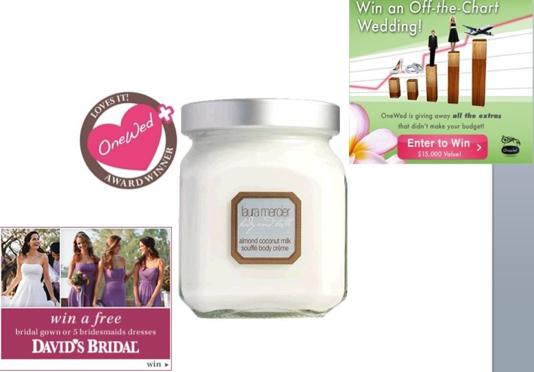 If you're looking for a great wedding deal, check out items from David's Bridal, Laura Mercier and t