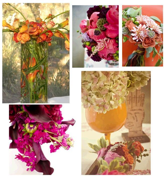Vibrant floral arrangements in bright pink orange coral plum and vibrant floral arrangements in bright pink orange coral plum and fuchsia mightylinksfo