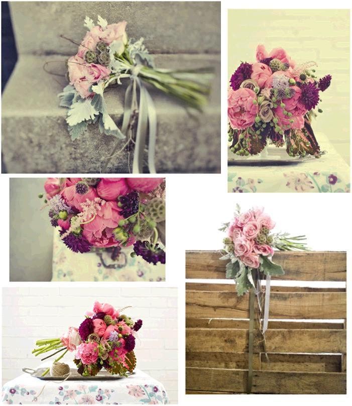 Beautiful Whimsical Fl Arrangements For Your Wedding Dusty Rose Sage Pink And Purple