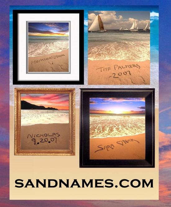 A memory that will last forever- Sandnames poster, with you and your fiance's name and wedding date!