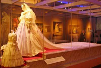 The long train of Princess Diana's royal wedding dress inspired long trains on wedding dresses for t