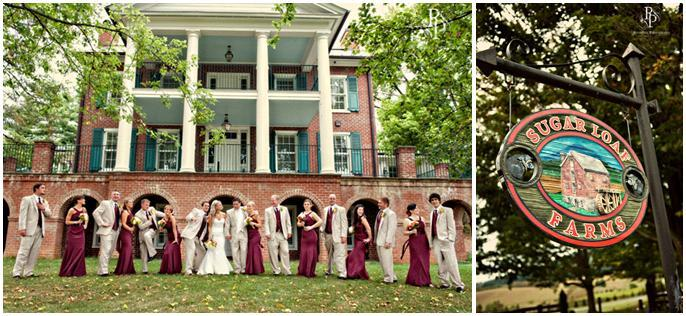 Burgundy-khaki-teal-wedding-maroon-bridesmaids-dresses-plantation-style-farm.full