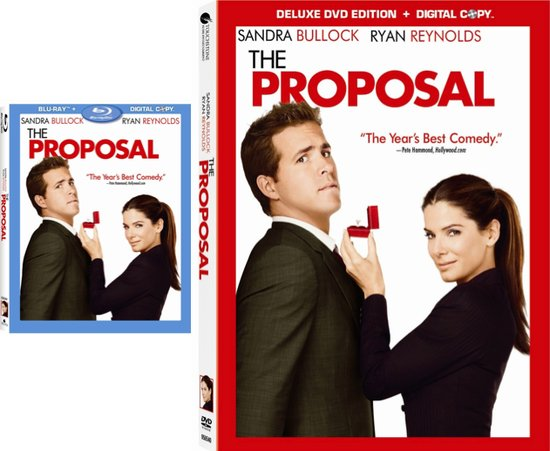 These are the covers for the dvd and blu-ray versions of The Proposal starring Sandra Bullock and Ry