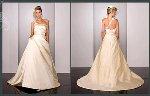 photo of To-Die-For Martina Liana One-Shoulder Wedding Dress!