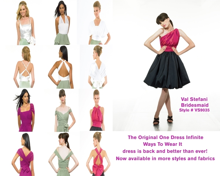 Versatile, colorful one-shoulder bridesmaids' dresses with a cute bubble skirt