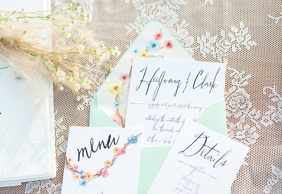 Bohemian Mint-watercolor wedding stationery-botanical wedding stationery-2