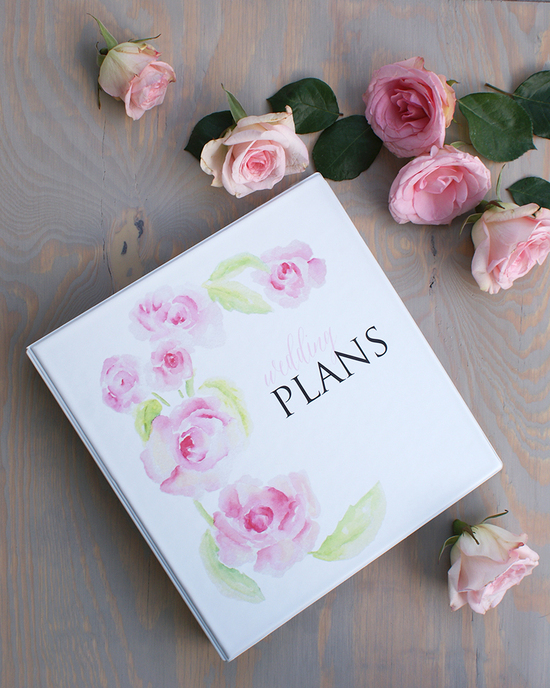 wedding planner binder peonies and stripes 5