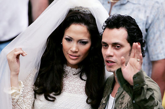 Jennifer Lopez and Marc Anthony on their wedding day.