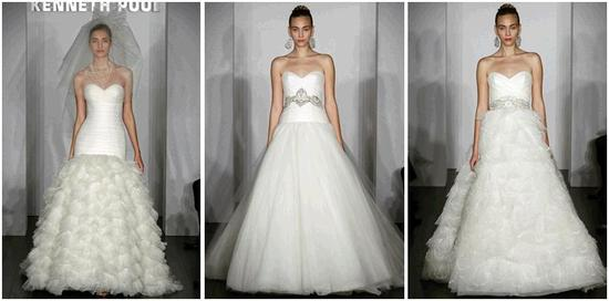 Whimsical, beautiful tulle white wedding dresses from Kenneth Pool