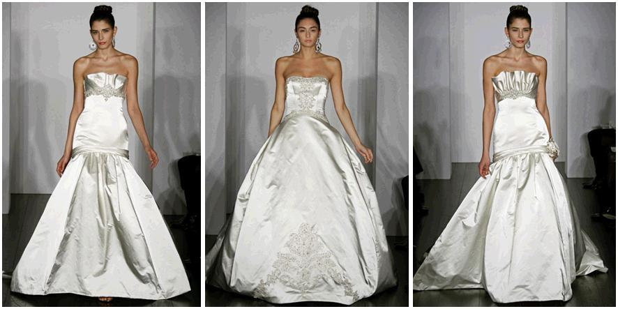 Stunning dutchess satin white wedding dresses from Kenneth Pool