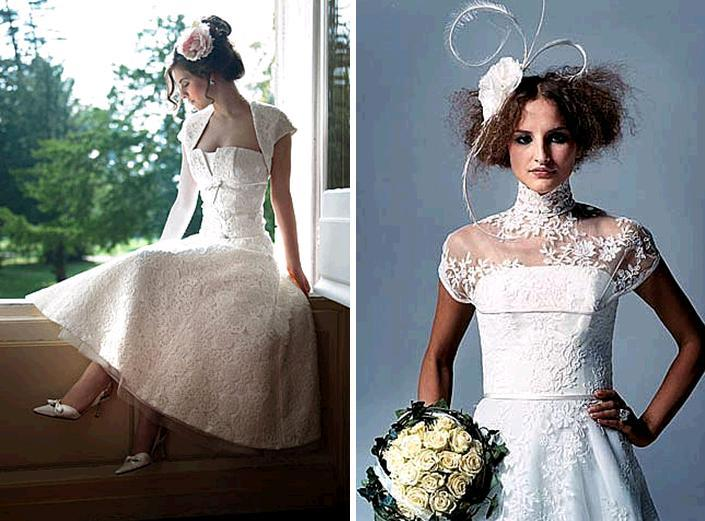 Lace-wedding-dresses-and-bridal-attire-white-a-line-pink-flower-in-hair-ivory-rose-bouquet.full