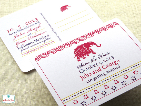 imbueyou indian elephant save the date w
