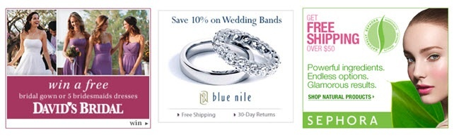 David's Bridal, Blue Nile, and Sephora all offer great deals to OneWed's readers.