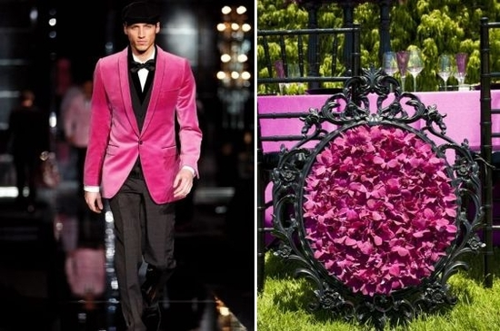 Hot pink and black- perfectly paired on the Dolce & Gabbana runway... let this color pallette inspir