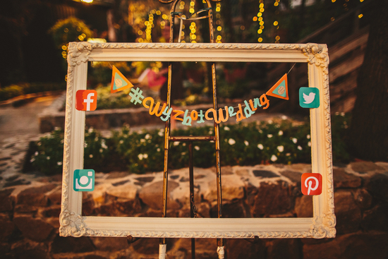 Wedding Reception Ideas - Social Media Hashtag