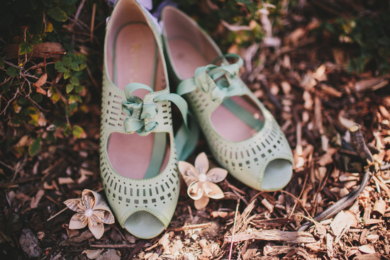 Mint Shoes for Wedding Day