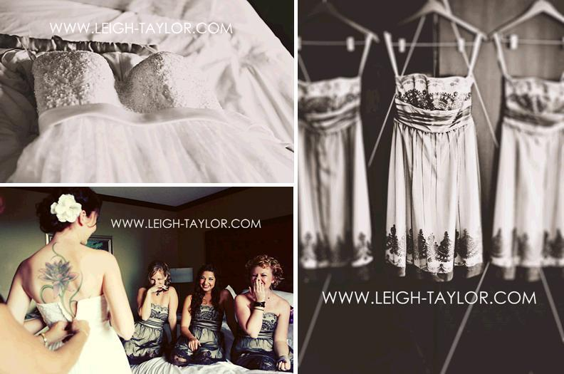 Leigh-taylor-rock-n-roll-wedding-black-and-white-vintage-feel-closeup-of-wedding-dress-bridesmaids-dresses.full