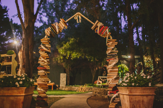 Creative Book Entranceway for Reception