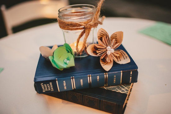 DIY Book Table Centerpiece