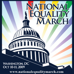 The official poster for the National Equality March, an event in support of gay marriage to be held
