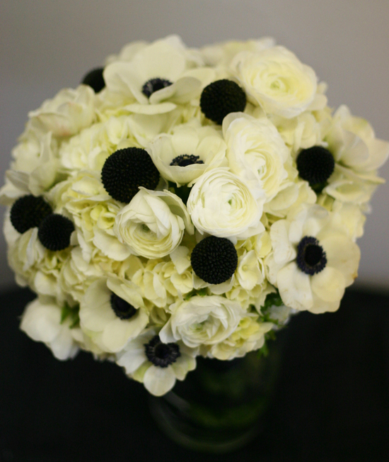 Black & White Bridal Bouquet