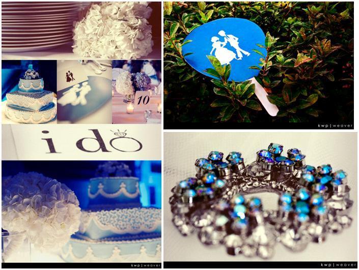 Aqua-blue-sky-blue-white-wedding-white-roses-wedding-cake-rhinestoon-brooch.full