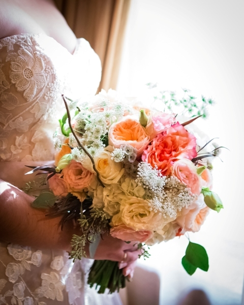 Blush & coral wedding