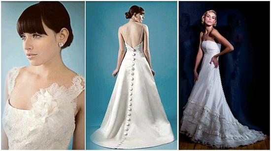 Caroline DeVillo Couture Wedding Dresses- Stunning with oversized flower detail, large covered butto