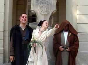 photo of Yes, It's a Star Wars Wedding Theme