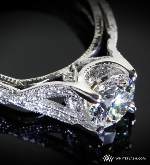 Gorgeous David Vinson custom engagement ring from Whiteflash.com