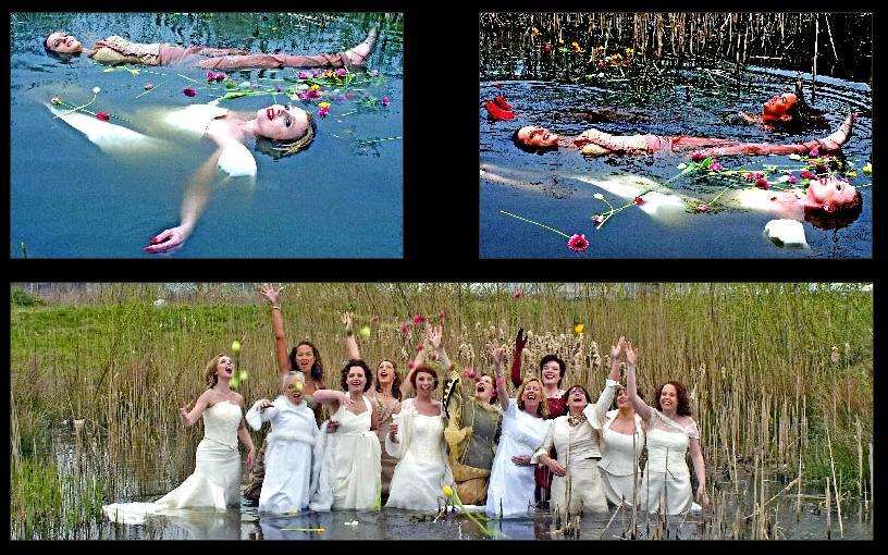 Mass-trash-the-dress-in-the-netherlands-on-09.09.2009-bride-float-with-flowers-in-sea.full