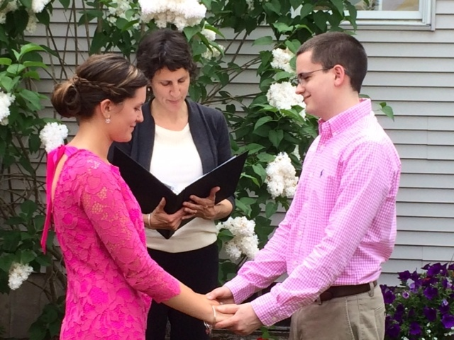 Megan Barber Wedding Officiant Backyard