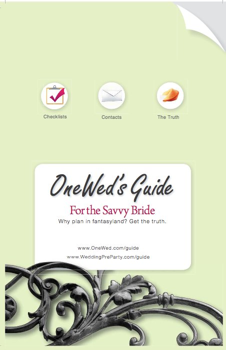 The new and revised, OneWed's Guide for the Savvy Bride is a helpful planning tool for any bride and