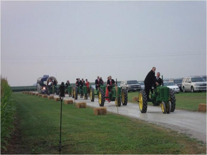 Wedding-party-rides-in-on-john-deere-tractors.full