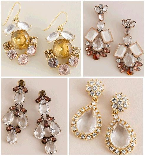 Stunning drop earrings from JCrew with a bridal updo these